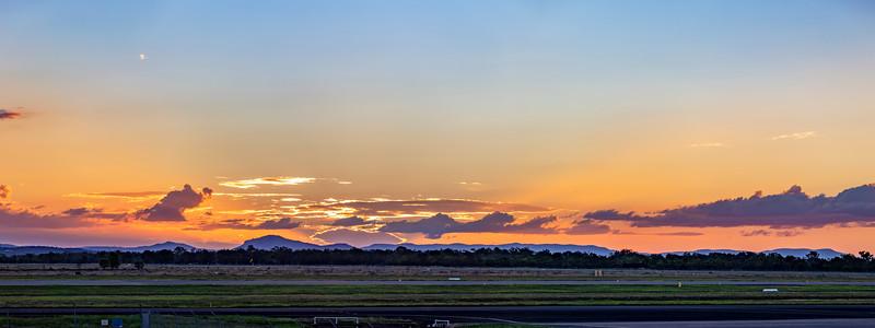 Sunset over Rockhampton Airport 18-03-2019
