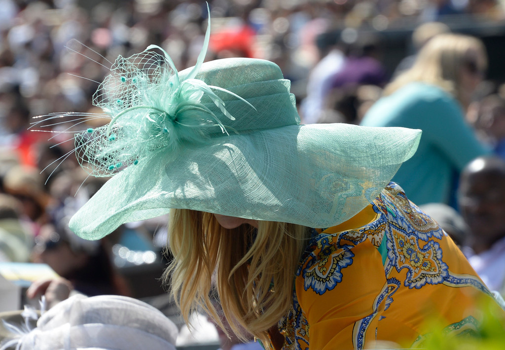 . April 20,2014, Hollywood CA. Women were wearing all kinds of fancy easter hats, during the 2014 Hollywood bowl easter service by the Christian Assembly Church, Fellowship Monrovia, and Bel Air Presbyterian Church.  Photo by Gene Blevins/LA Daily News