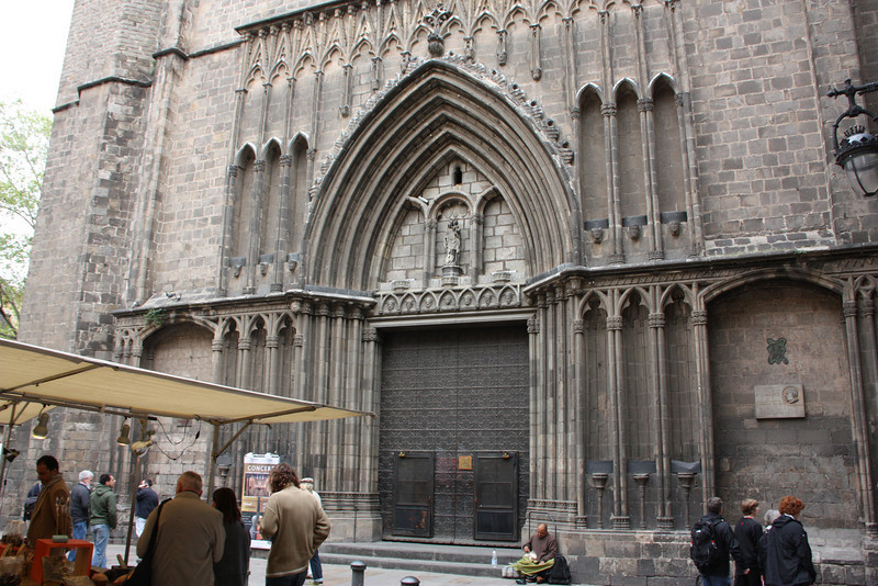 Santa Maria del Pi - a 15th century fancy church in Barcelona, noted for it's Rose Window.