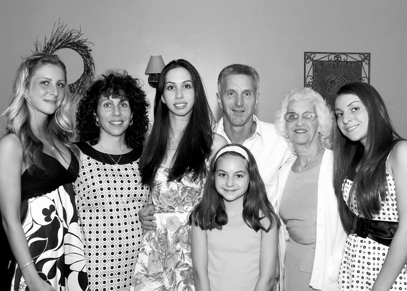 Amanda's Family in B&W
