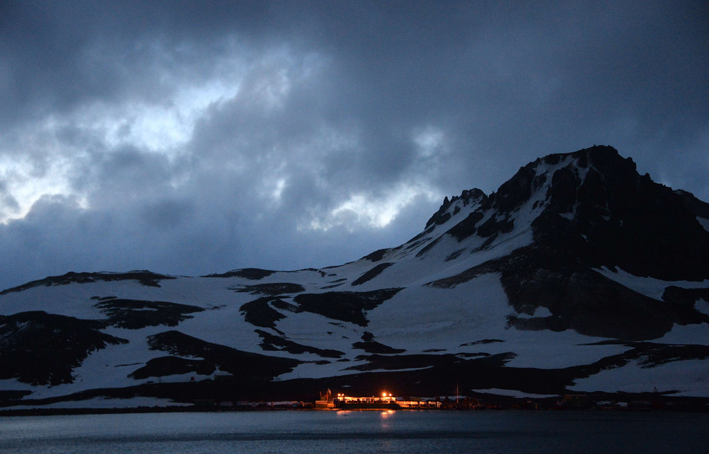 . View of the Brazilian Comandante Ferraz Antarctic Station seen from the Brazilian Navy\'s Oceanographic Ship Ary Rongel on March 7, 2014.     AFP PHOTO /VANDERLEI ALMEIDA/AFP/Getty Images