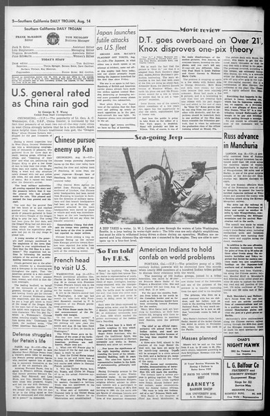 Daily Trojan, Vol. 36, No. 178, August 14, 1945