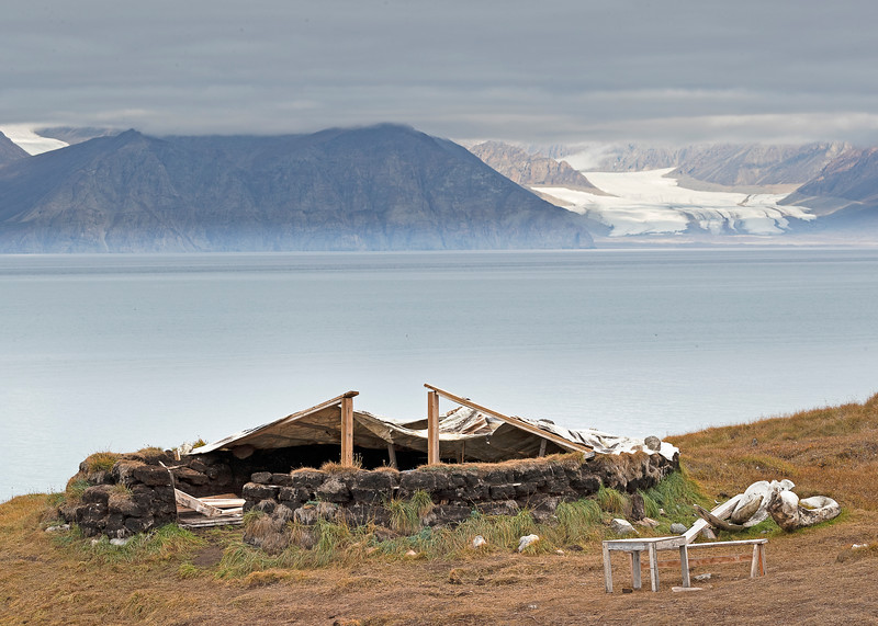 Reconstructed  Inuit sod house, Pond Inlet