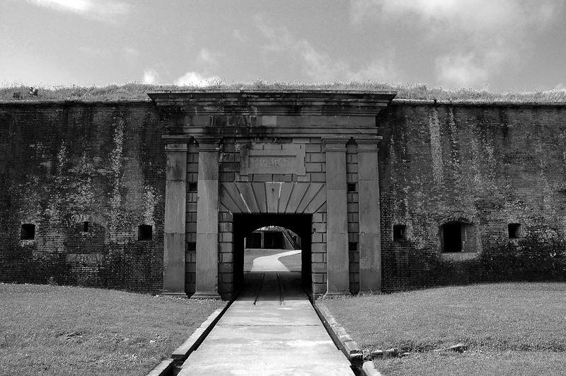 Entrance to Fort Morgan.
