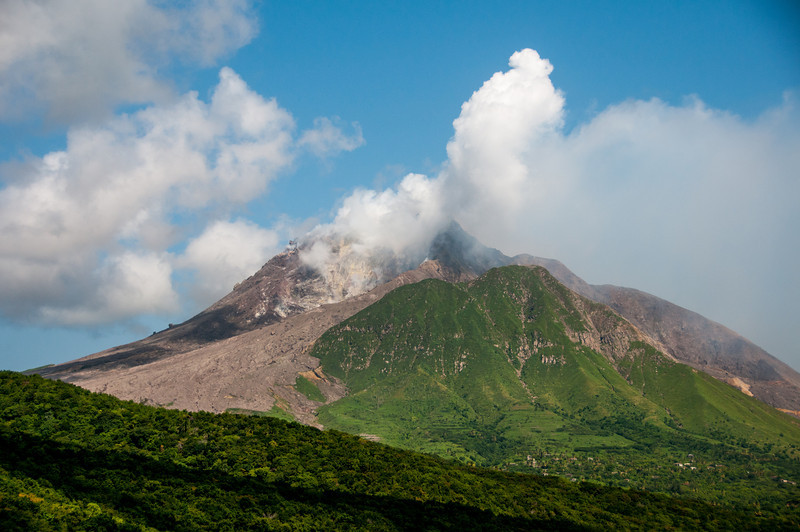 The volcano of Montserrat