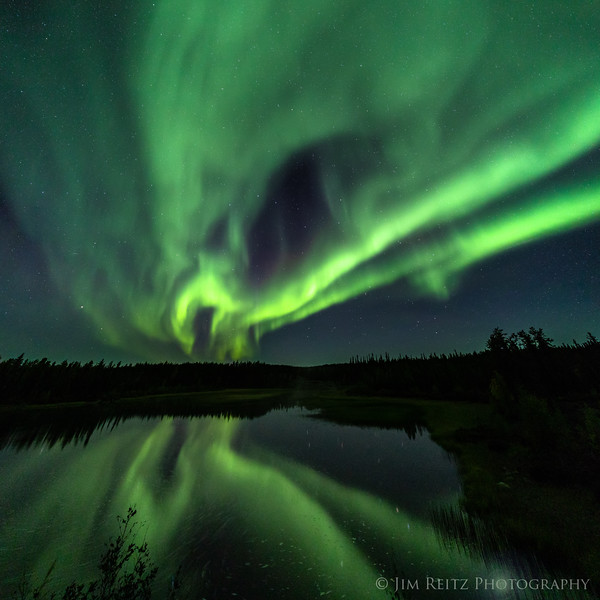 Aurora Borealis, Cameron River Crossing Territorial Park - Yellowknife, Canada