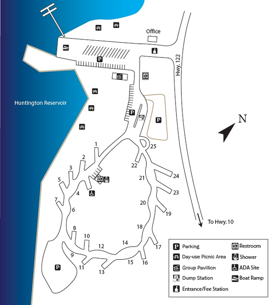 Huntington State Park (Campground Map)