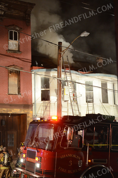 Northumberland County - City of Shamokin - 3 Alarm Fire - 9/5/2012