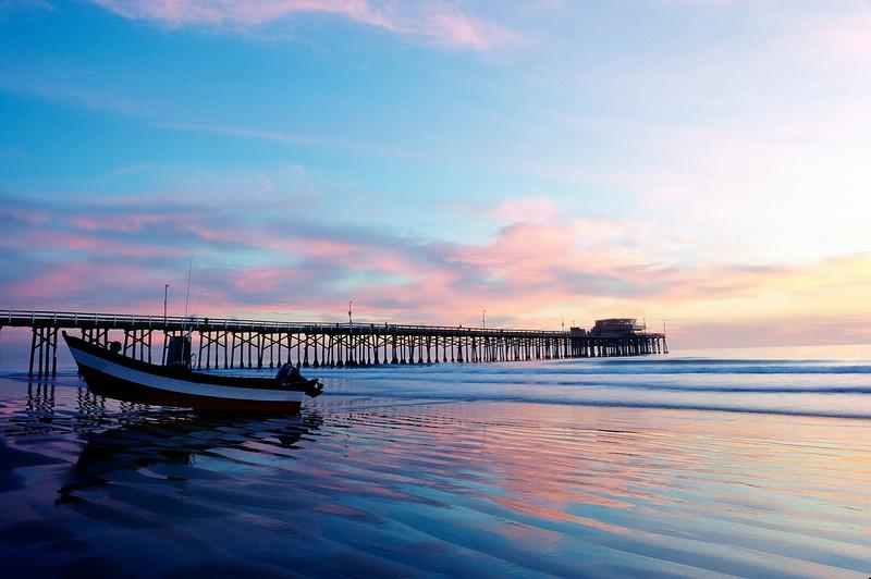 Dory Sunset Newport Beach Pier.jpg
