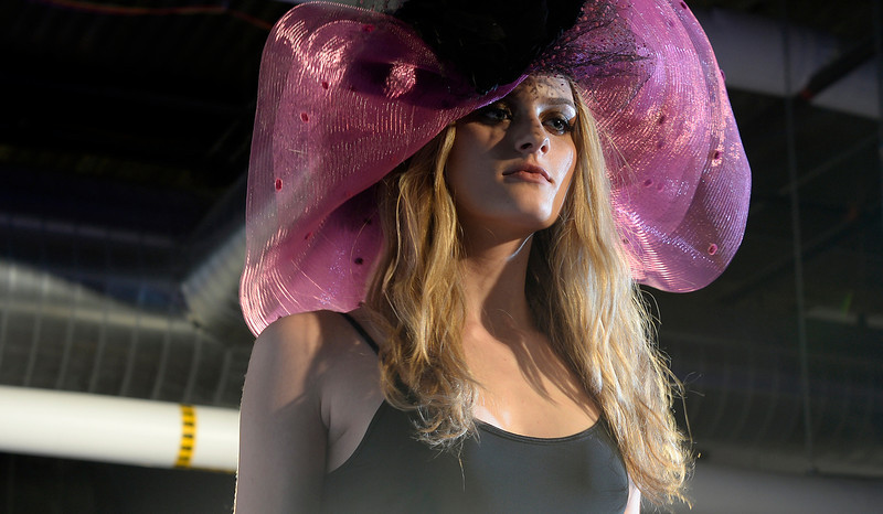 . One of the hats by Kitty Mae Millinery and Accessories at the second annual Westword Whiteout Fashion Show at the McNichols Building in Denver feature Denver designers on Thursday, January 30, 2014.  (Denver Post Photo by Cyrus McCrimmon)