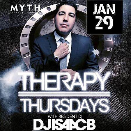 """<font size=""""1"""">Therapy Thursdays @ Myth Taverna & Lounge 1.29.15"""