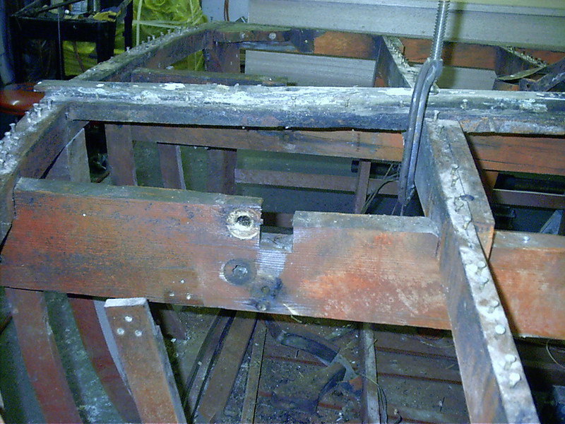 Rear 24 inches of starboard engine stringer rotted.