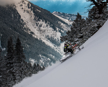 Snowbiking Providence Canyon Nate Z.