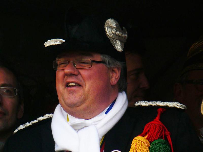 Optocht met burgemeester Hubert Bruls