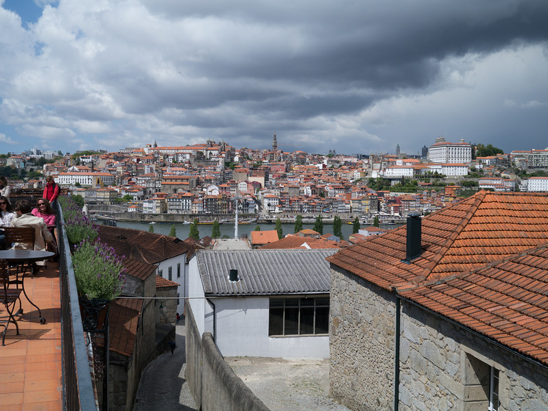 Looking over Porto from the port lodge