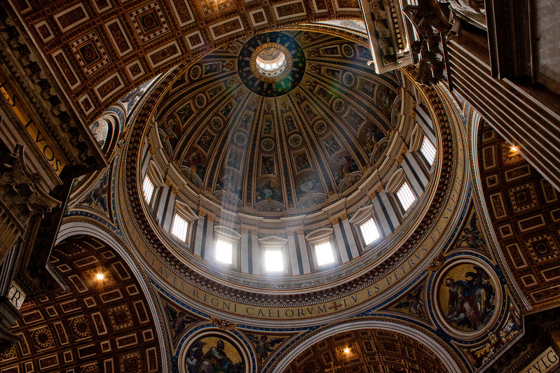 Dome and Beams in the Vatican