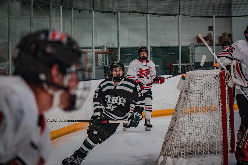 Holy Family Boys Varsity Hockey vs. Elk River, 12/27/19: Tyler Heise '22 (25)