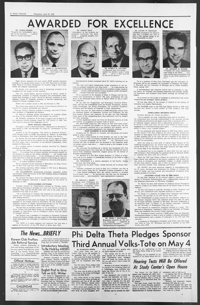 Daily Trojan, Vol. 58, No. 112, April 26, 1967