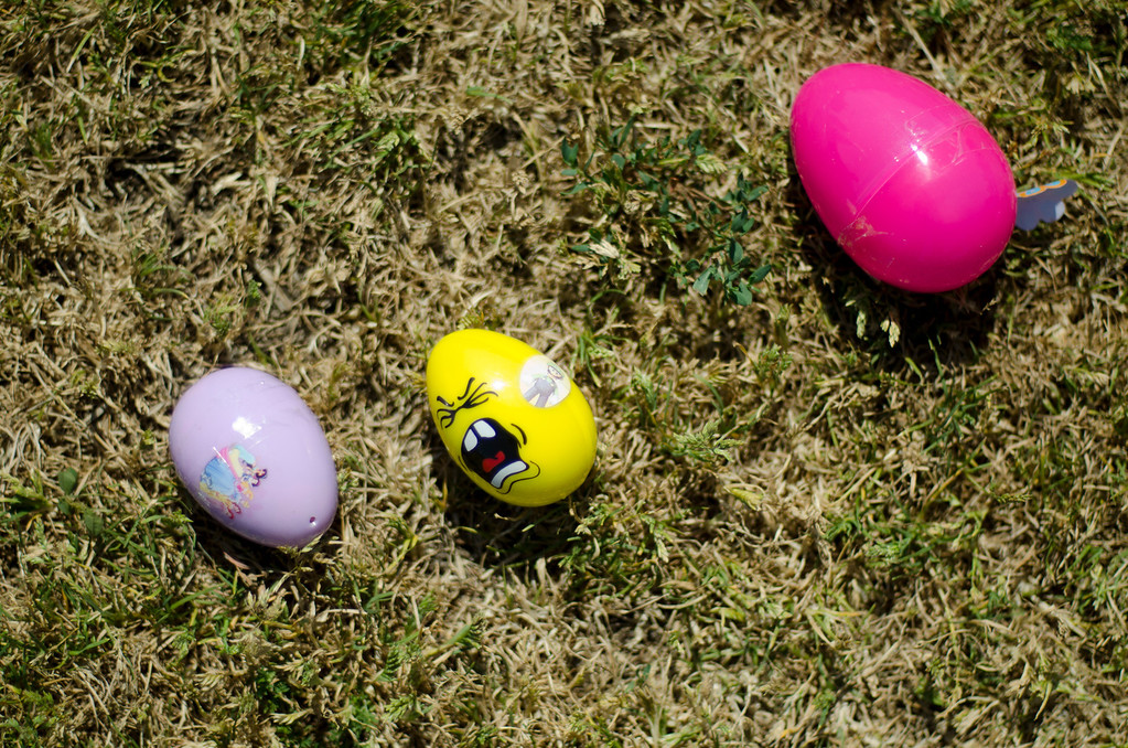 . Easter eggs on the field at Easter Land at Mayberry Park in South Whittier, Calif. Saturday, March 20, 2013. An expected crowd of 2,000 guest more than doubled for a helicopter drop of 5,000 Easter eggs. (SGVN/Correspondent photo by Anibal Ortiz)