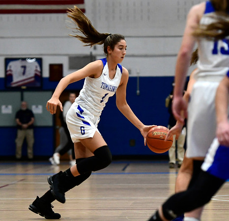 3/5/2020 Mike Orazzi | Staff Glastonbury's Rachel Roman (1) during the Class LL Second Round of the CIAC 2020 State Girls Basketball Tournament at Glastonbury High School on Thursday night.