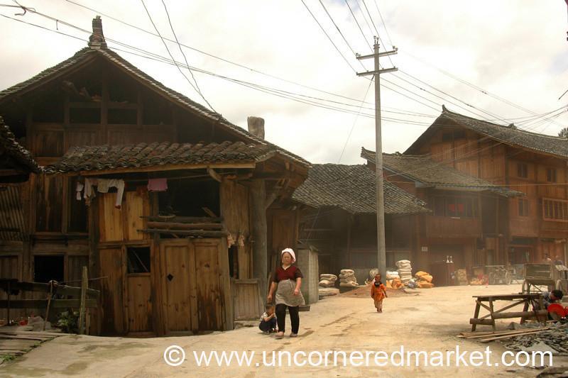 Xijiang Street Scene - Guizhou Province, China