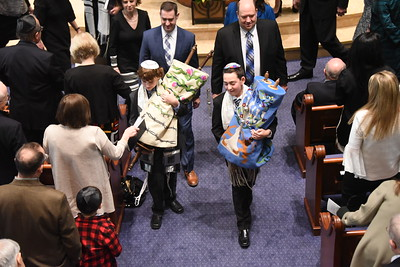 Max and Sam at Temple Israel - II of II- service photos