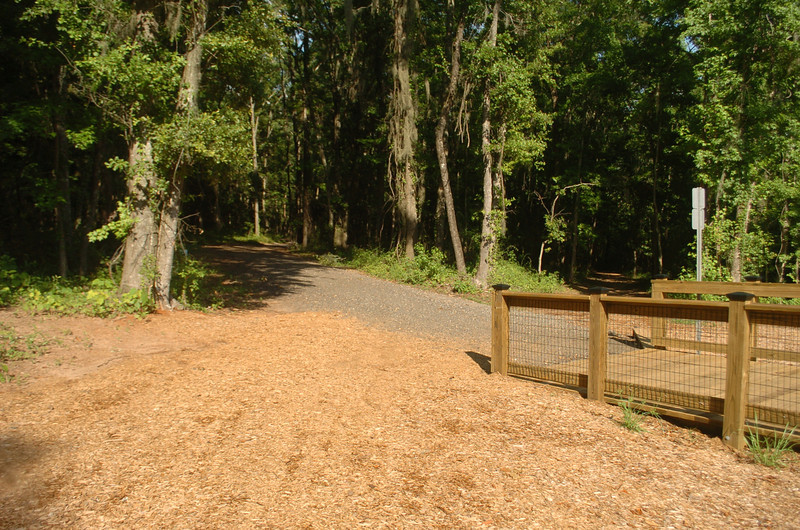 Alford Greenway Park is about 500m/0.3M down the left fork. The old city trail toward Alford is down the right fork.