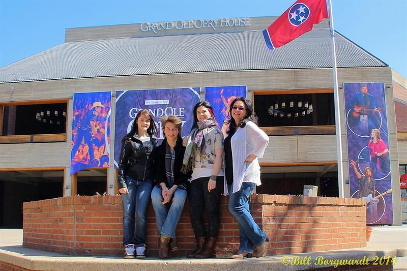 Stephanie Lloyd, Jesse Mast, Melody Lovejoy, Dahlia Wakefield at the Grand Ole Opry