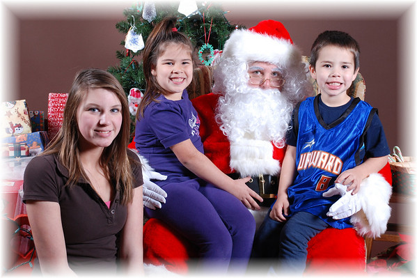 Bethlehem Preschool Pictures with Santa