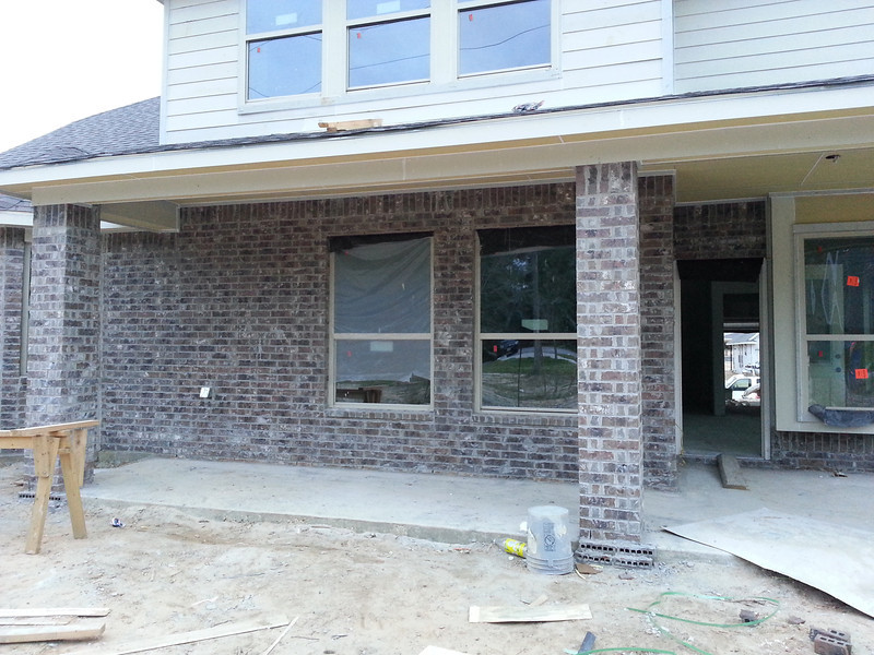 Back of house brick done.