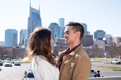 Matt and Ashley Downtown Nashville 030721