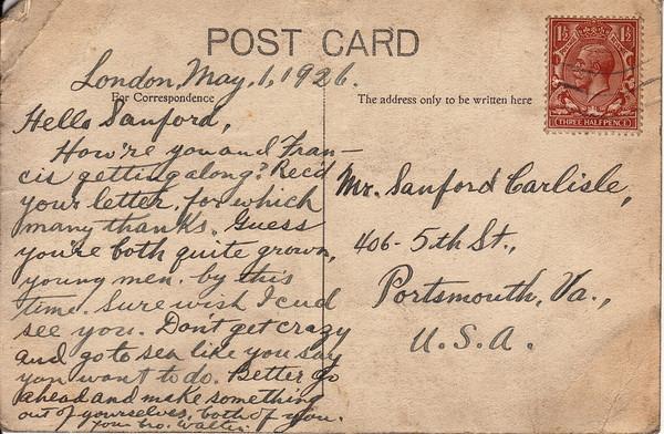 Vintage Family Postcards