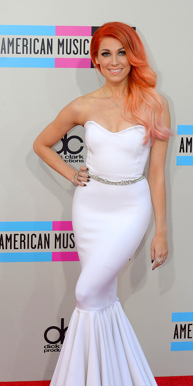 . Bonnie McKee arrives to the American Music Awards  at the Nokia Theatre in Los Angeles, California on Sunday November 24, 2013 (Photo by Andy Holzman / Los Angeles Daily News)