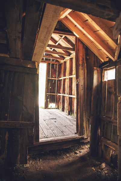 Inside a cabin at Animas Forks