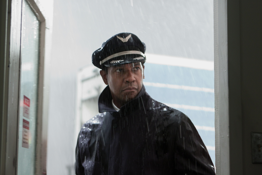 Description of . This film image released by Paramount Pictures shows Denzel Washington portraying Whip Whitaker in a scene from