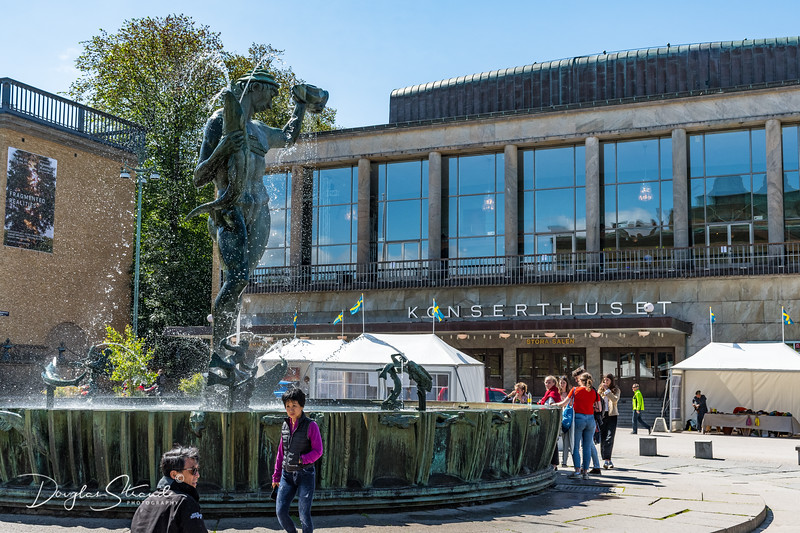 Statue of Poseidon at the Gothenburg Concert Hall