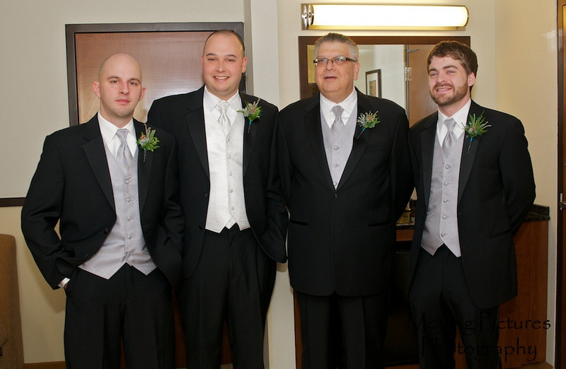 Erin & Evan Wedding - the men