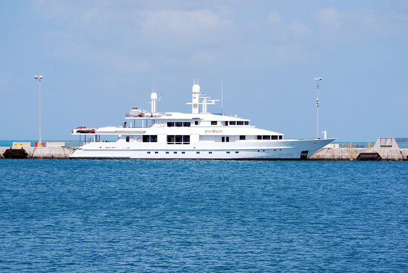 "The 143' luxury Motoryacht ""Star Ship"" was built in 1988 and re-fitted in 2004.  It is a fully crewed charter and available for your use at $125,000 per week!!"