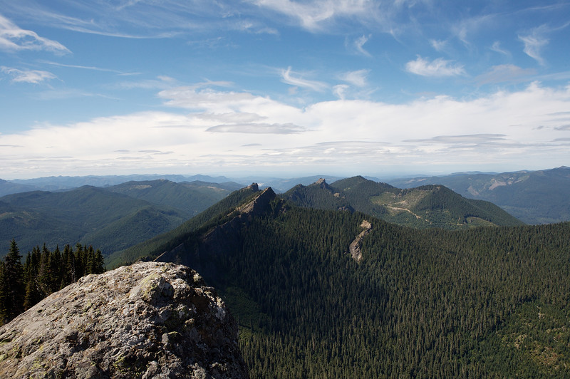Looking West from the tip of High Rock, in front of the lookout building