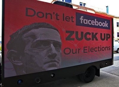 Jul 28 Protest of FaceBook's Handling of Disinformation