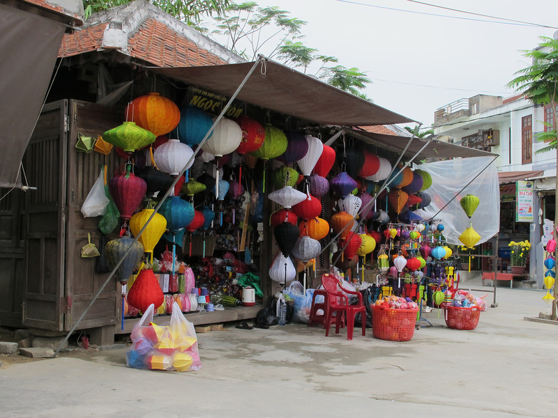 Hand-made foldable paper lanterns.