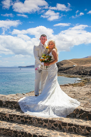 Orla and Gregg's wedding photography Lanzarote