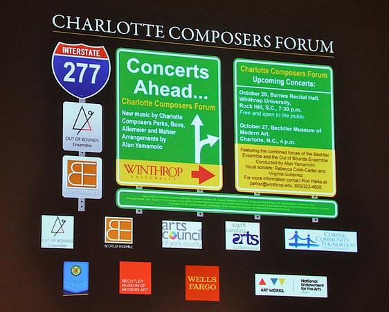 Charlotte Composers Forum-Out of Bounds Ensemble-Bechtler Ensemble