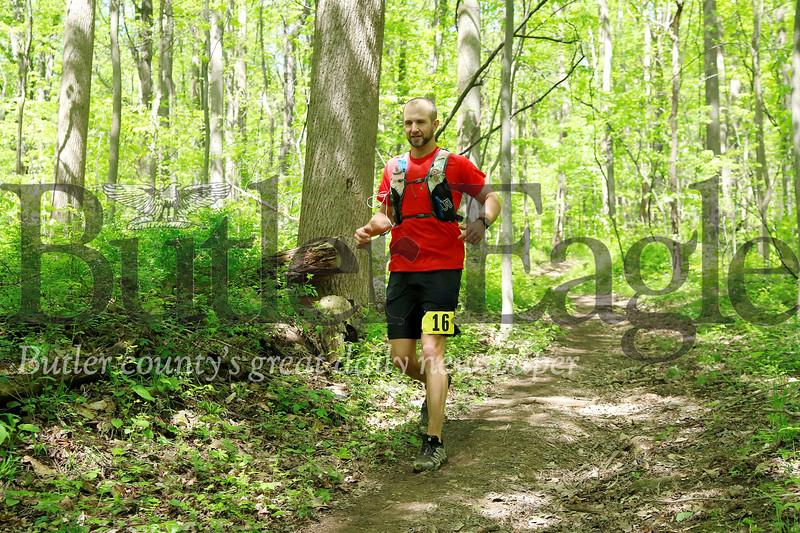 50-mile runner bib #16 Morraine Ultra. Seb Foltz/Butler Eagle