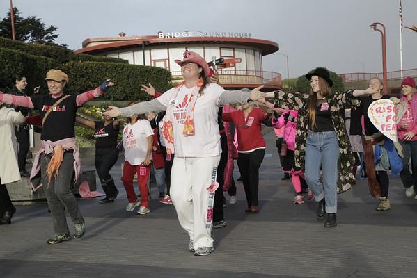 Valentine's Day Golden Gate Bridge One Billion Rising 2014
