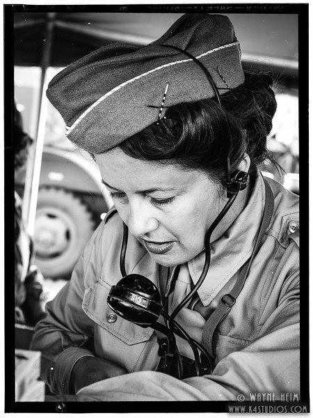 Radio Operator    Black & White Photography by Wayne Heim