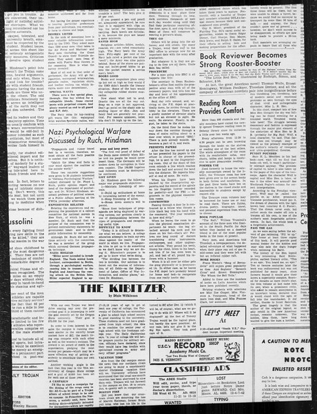 Daily Trojan, Vol. 34, No. 53, December 04, 1942