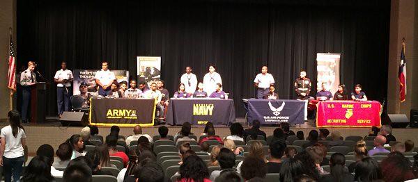 2016 Military Signing Day - Lake Ridge High School