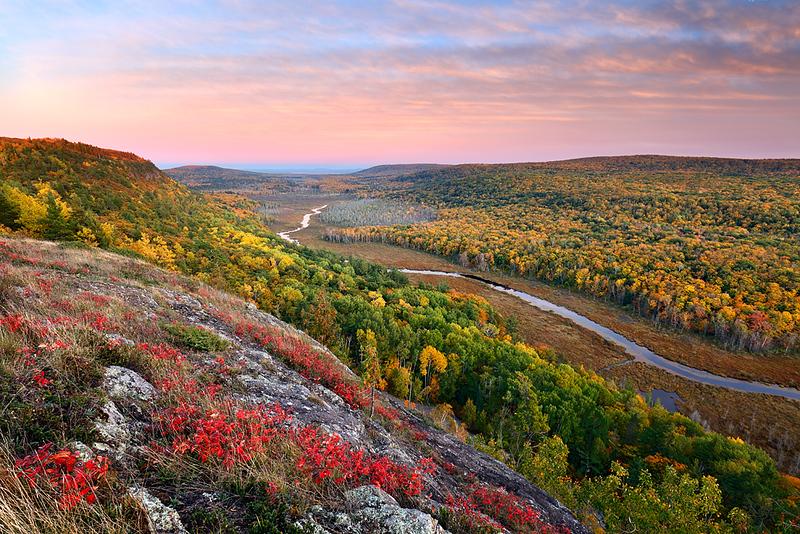 Evanesce Twilight - Big Carp River Valley (Porcupine Mountains State Park - Upper Michigan)