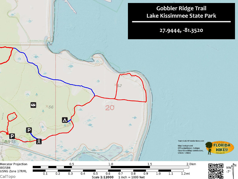 Gobbler Ridge Trail Map